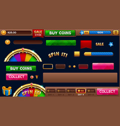 lobby elements for slots games vector image vector image
