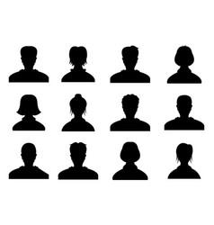 male and female head silhouettes avatar profile vector image