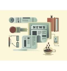 News design concept vector image