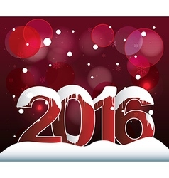 2016 Lights Bokeh Background vector image