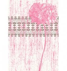 grunge flower vector image