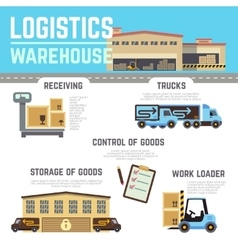 Warehouse cargo logistic infographics vector image vector image