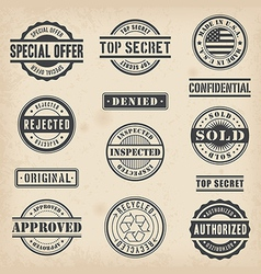 0012 Commercial Stamps Set vector image