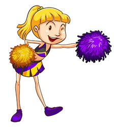 A pretty cheerleader vector image