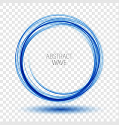 abstract background round blue wavy circle vector image