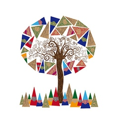 Abstract tree concept vector