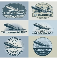 Air badges color1 vector