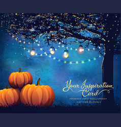 autumn holiday poster vector image