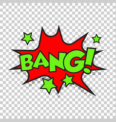 bang comic sound effects sound bubble speech with vector image