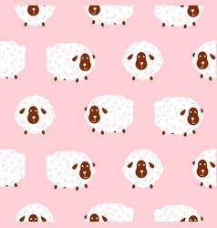 basheep girlish cute seamless pattern vector image