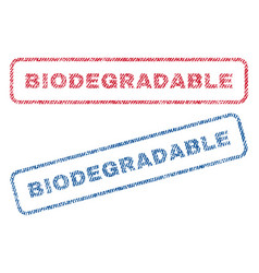 Biodegradable textile stamps vector
