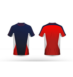 blue red and white layout e-sport t-shirt design vector image