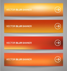 Blurred banners 1 vector image