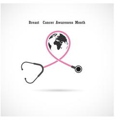 Breast cancer awareness logo design vector image