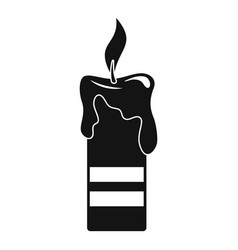 burning candle icon simple style vector image