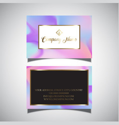 business card with hologram design vector image