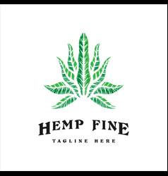 cannabis vintage logo vector image