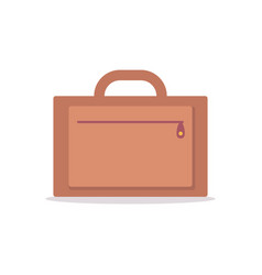 capacious bag with handle and zipper to travel vector image