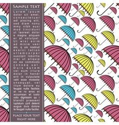 Card with umbrella vector image