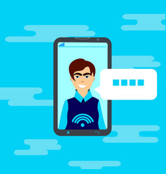 cell smart phone interface chatting user message vector image