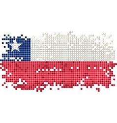chilean grunge tile flag vector image