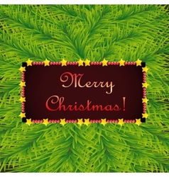 Christmas template on background of fir vector image