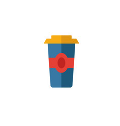 Coffee to go icon simple flat element from coffe vector