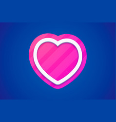 colorful heart icon on dark background with color vector image vector image
