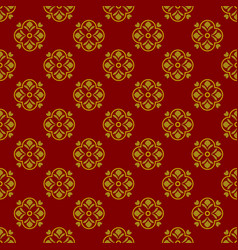 Dark red background with beautiful golg ornaments vector