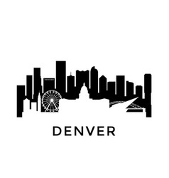 Denver city skyline negative space city vector