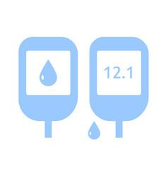 diabetes icon apparatus for testing for sugar vector image
