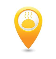 Dish MAP pointer yellow vector
