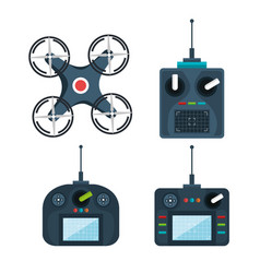 Drone modern remote controls technology device vector