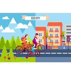 Eco City Decorative Icons vector