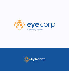 Eye corp logo vector