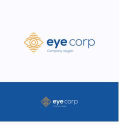 eye corp logo vector image