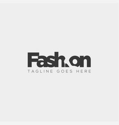 Fashion shoe with simple flat negative logo type vector