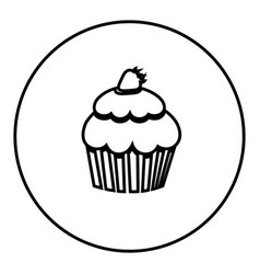 figure emblem muffin icon vector image