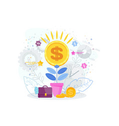Financial growth business concept dollars in a vector