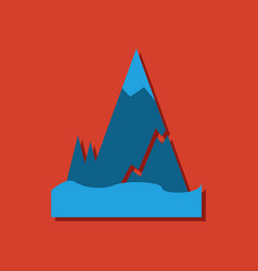 Flat icon design collection iceberg with crack in vector