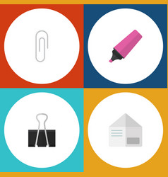 flat icon tool set of fastener page marker vector image
