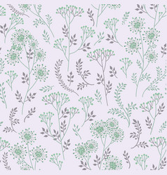 floral summer pattern leaves and flowers nature vector image