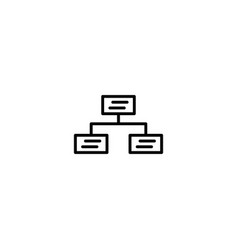 flowchart data icon vector image