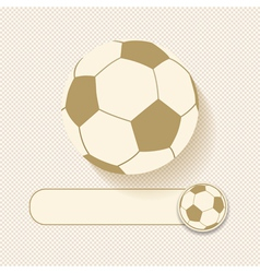 football and banner vector image