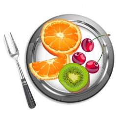 fruit salad vector image