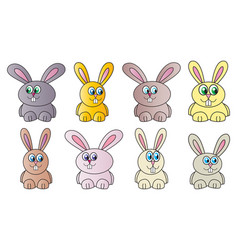funny easter bunny symbol icon design spring vector image