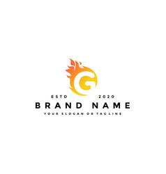 G letter logo fire design vector