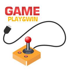 Game play win retro joystick background i vector