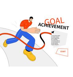 goal achievement - modern colorful line design vector image