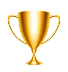 Golden Trophy Cup Icon vector image